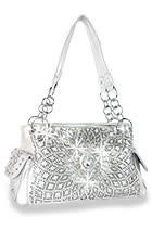 Bling Design Layered Handbag 6221