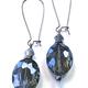 ER-BLUE FACETED GLASS DROP HL1581C