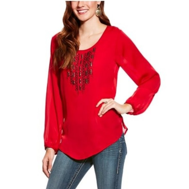 Ladies Myers Red Blouse