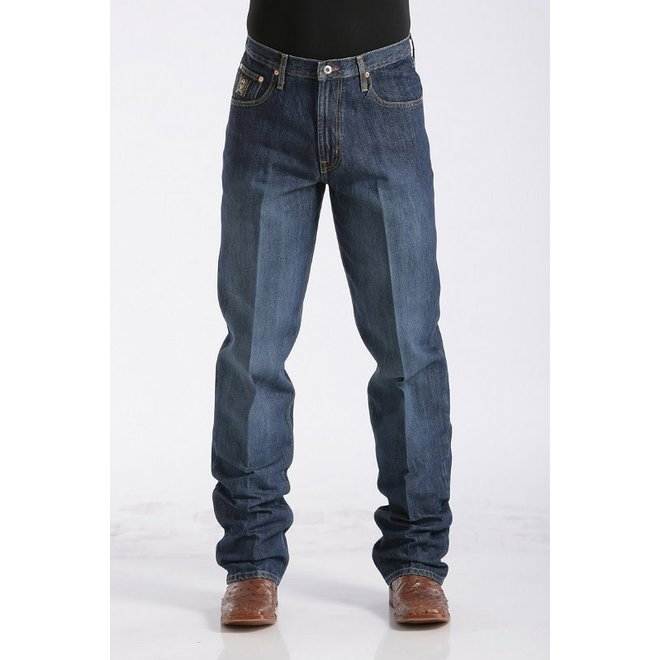 Mens Dark Black Label Relaxed Jeans