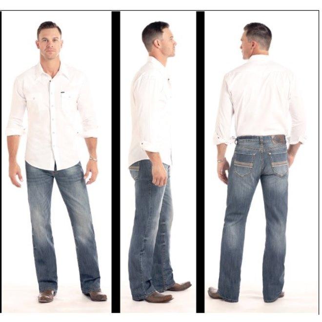 Mens Straight Leg Double Barrel Jeans