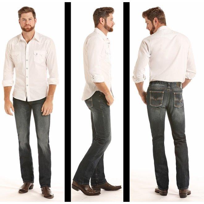 Mens Revolver Slim Straight Dark Wash Jean