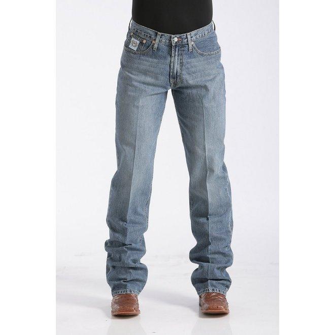 Mens White Label Mid Rise Medium Stonewash Jean