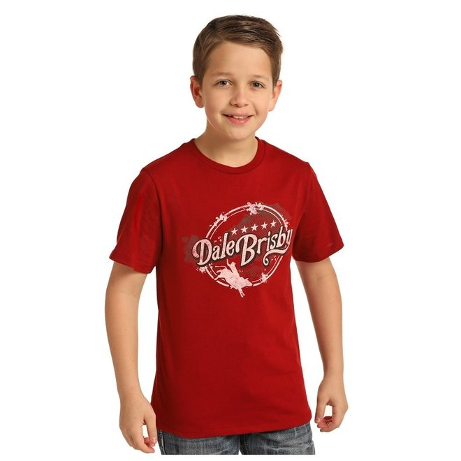 Boys Red Graphic T-Shirt
