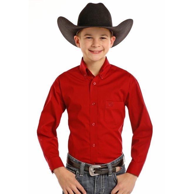 Boys Stretch Poplin Shirt
