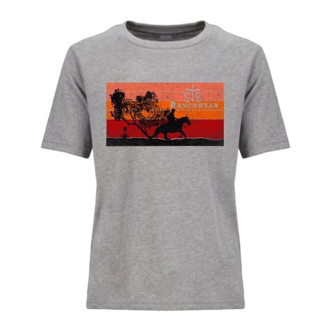 Youth Charcoal Sunset Tee