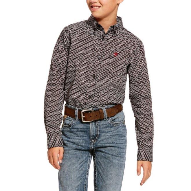 Boys Black Dalporto Print Shirt