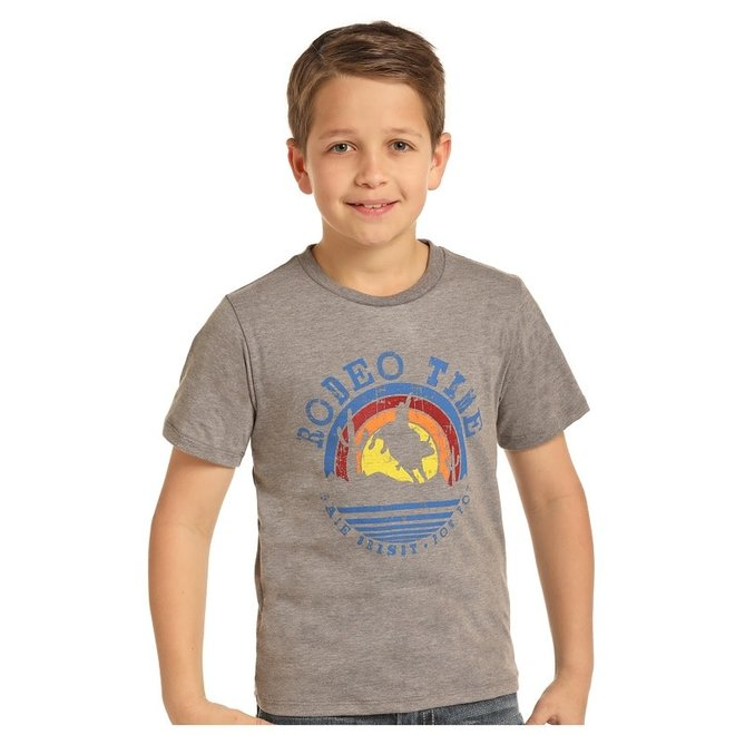 Boys Grey Graphic T-Shirt