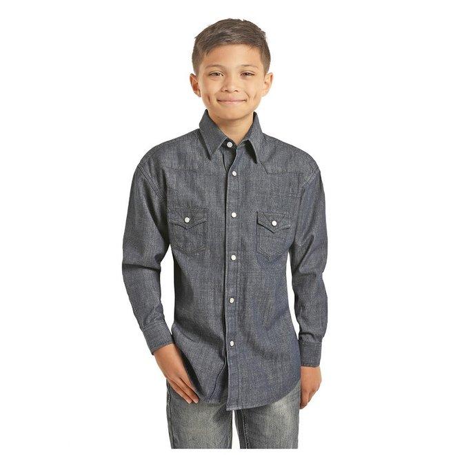 Boys Denim Heavy Stitch Shirt