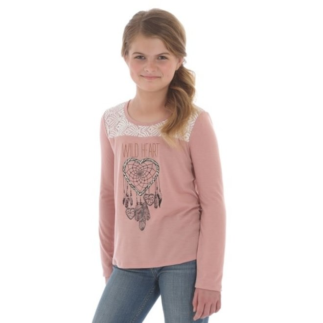 Girls Pink Wild Heart Tee