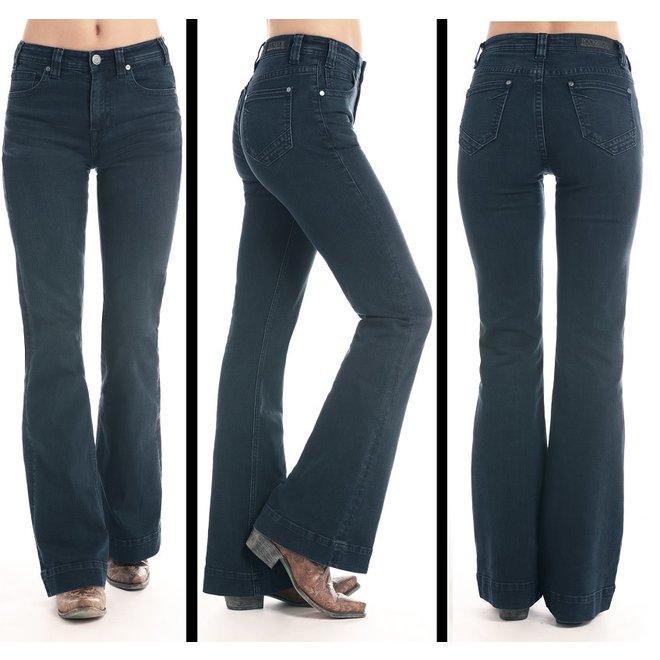 Junior Ladies Dark Wash High Rise Jeans