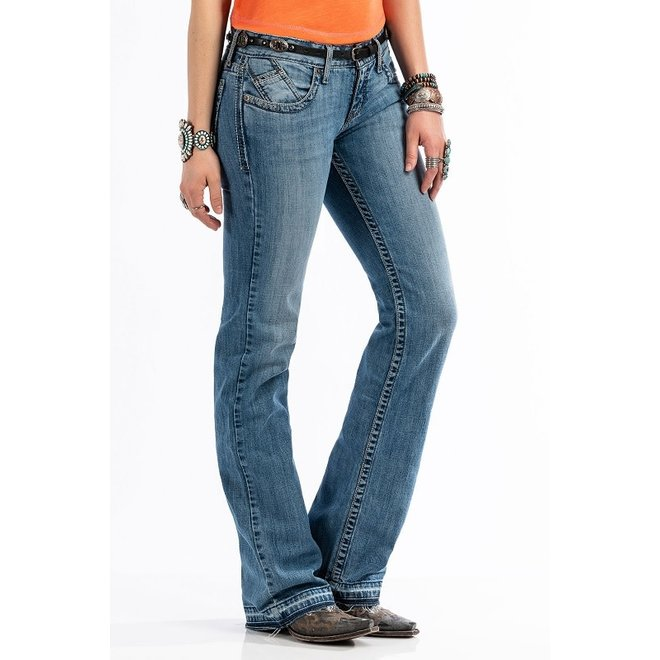 Ladies ABBY Mid Rise Slim Fit Boot Cut Jean