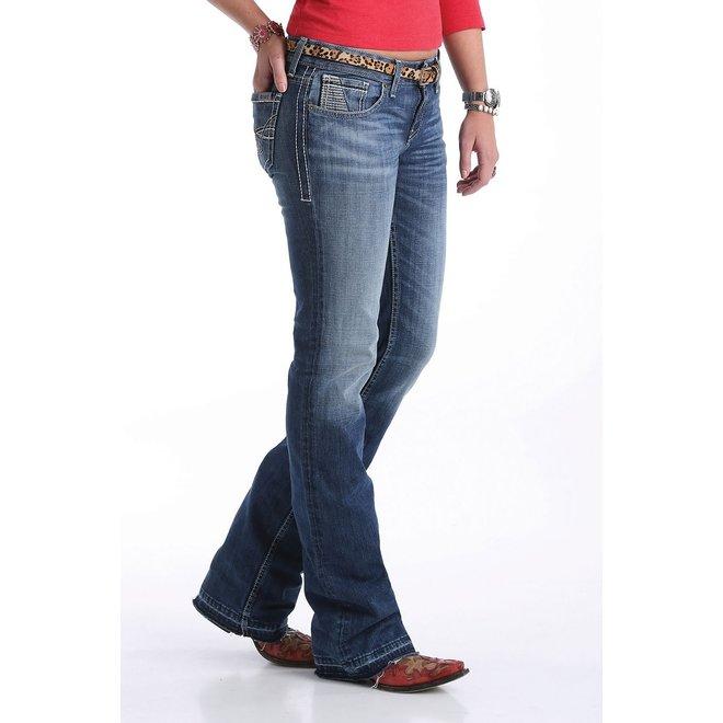 Ladies Mid Rise Slim Boot Cut