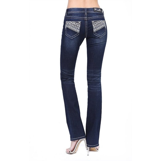 Ladies Grace in LA Sequin Embroidered Jeans