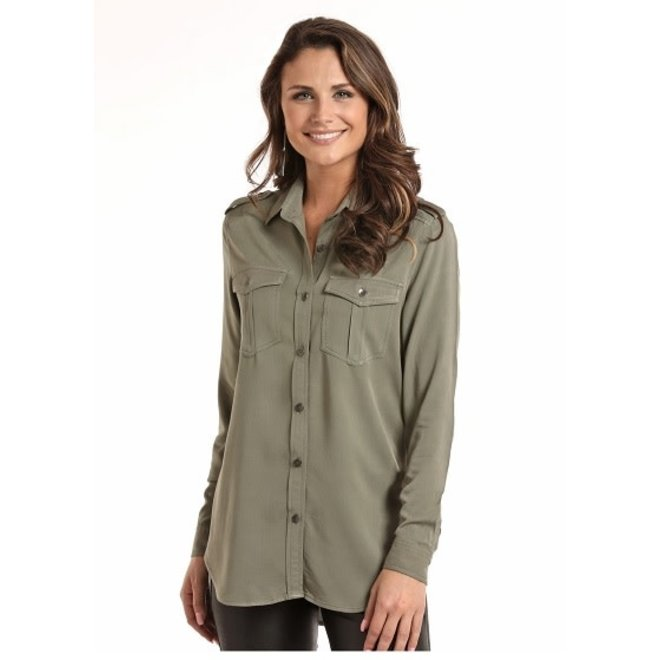 Jr Ladies Military Shirt