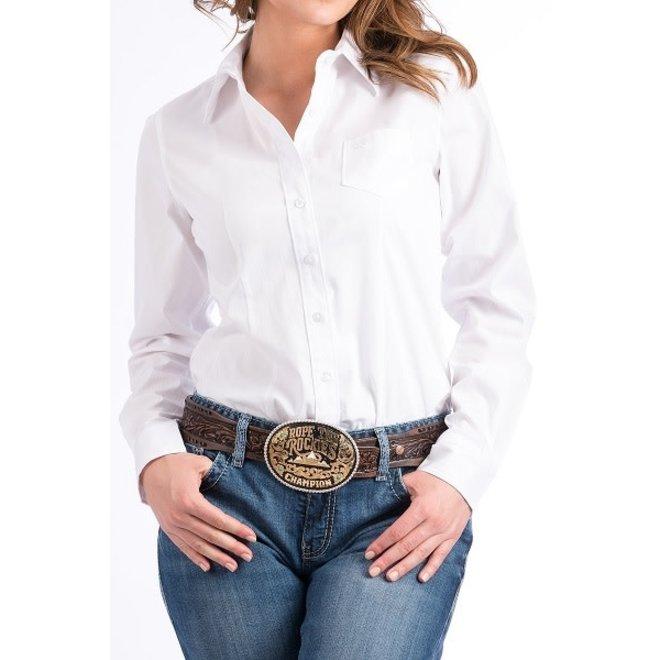 Ladies Cinch White Shirt