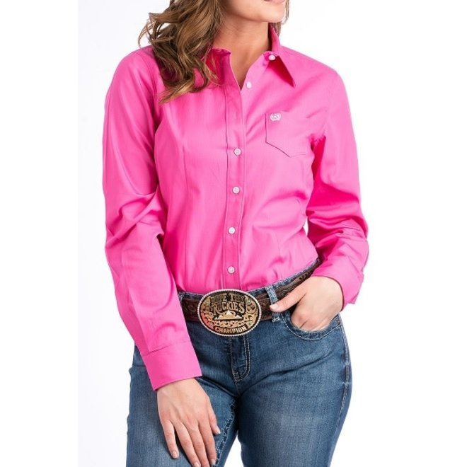 Ladies Cinch Pink Shirt