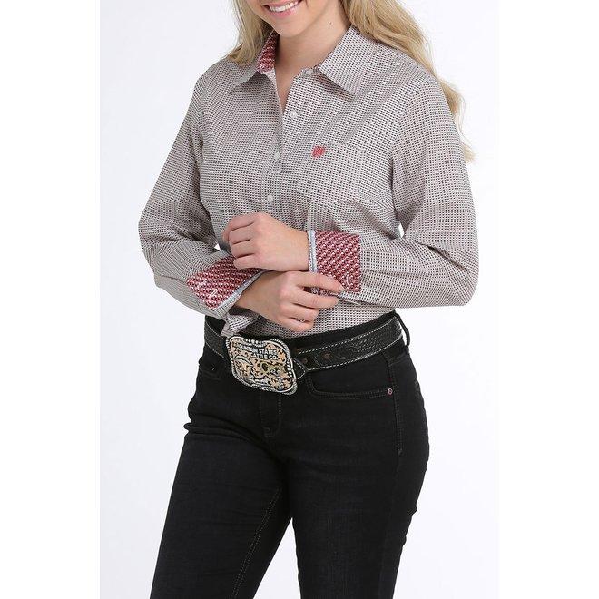 Ladies Pinstripe Button Shirt