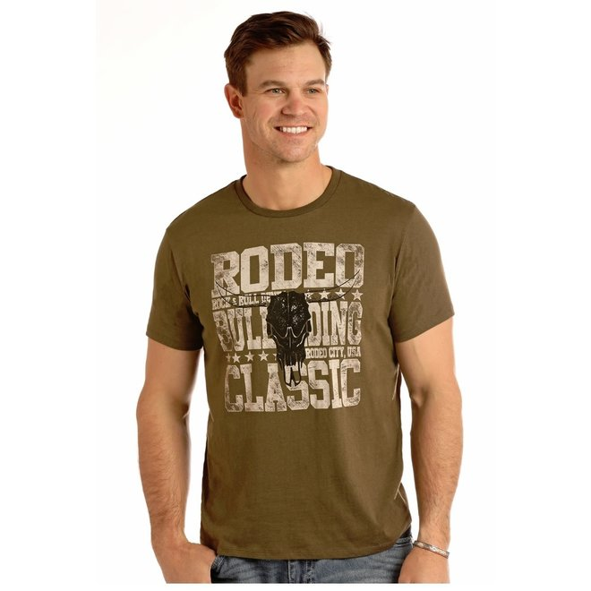 Mens Brown Graphic Tee