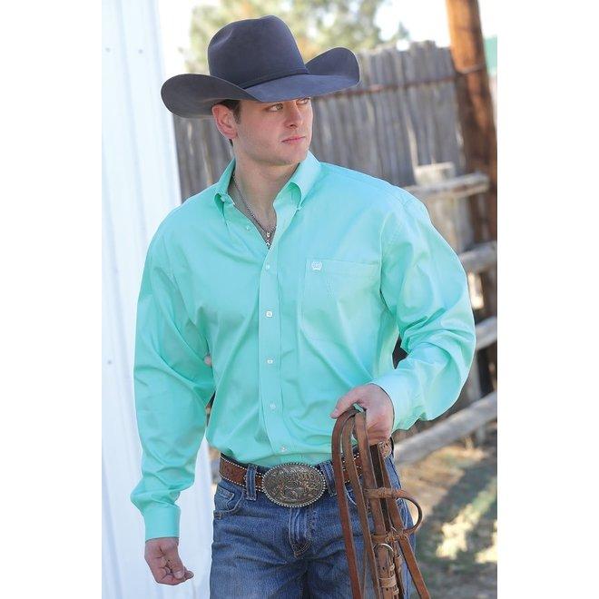 Cinch Green Solid Shirt