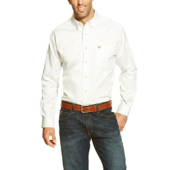 Mens WHT Solid Twill Shirt