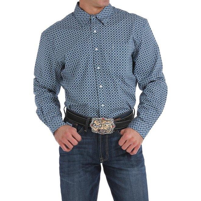 Mens Blue Print Shirt