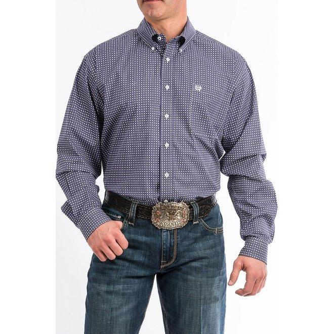 Mens Purple Print Shirt