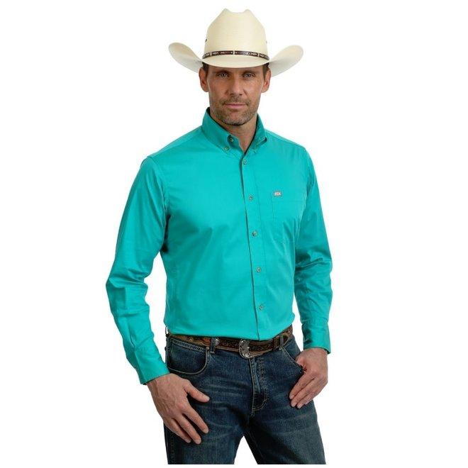 Mens Turquoise 20X Performance Shirt