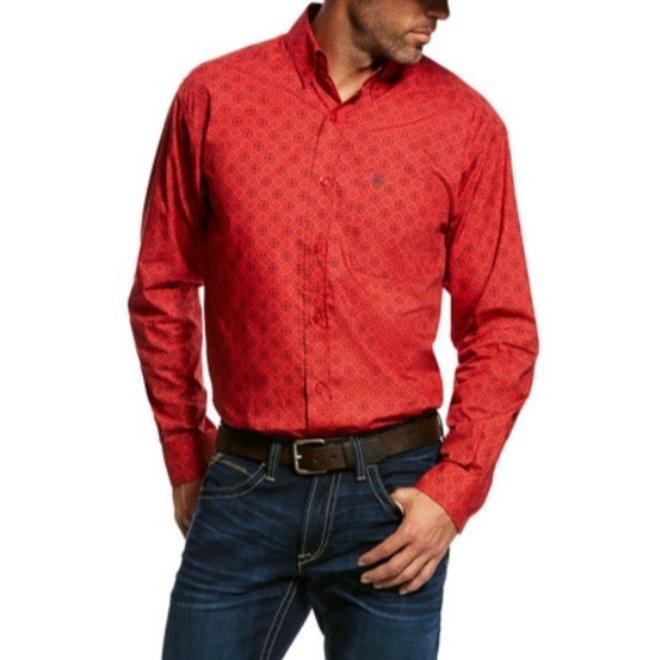 Mens Hibiscus Munson Print Button Down Shirt