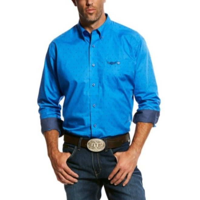 Mens Relentless Neoprene Blue Tough Print Shirt