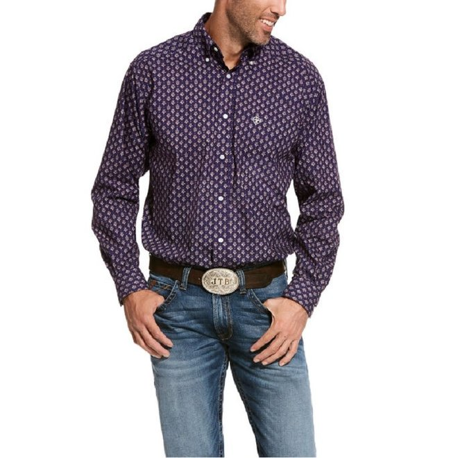 Mens Spencer Print Nightshade Shirt