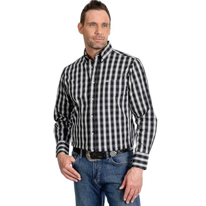 Mens Black Plaid 20X Shirt
