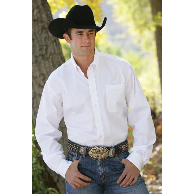 Cinch Mens Solid White Shirt