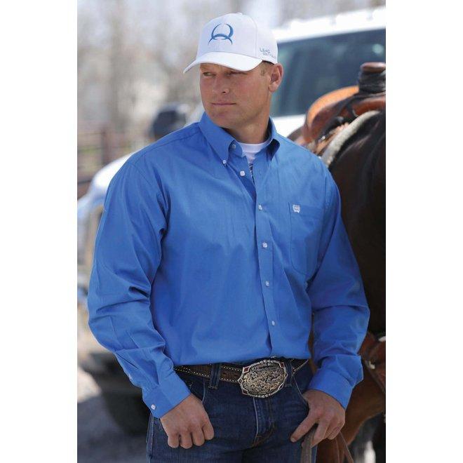 Cinch Mens Solid Blue Shirt