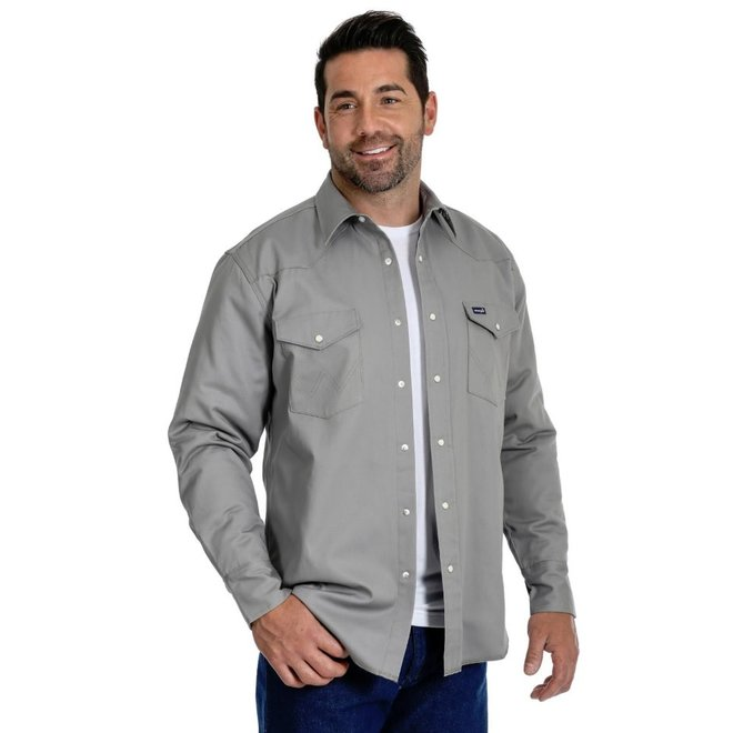 Mens Grey Lined Work Shirt