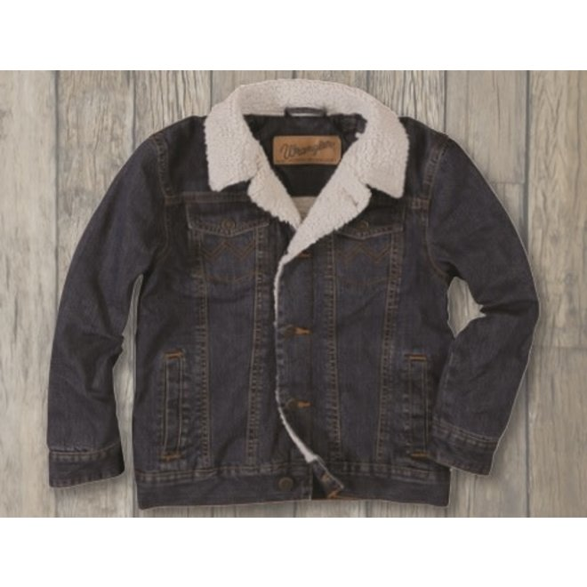 Boys Sherpa Lined Denim Jacket