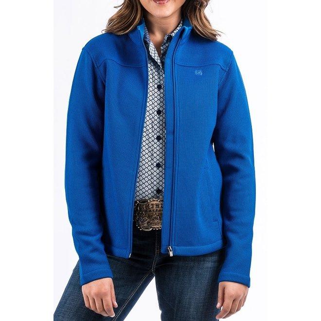 Ladies Royal Blue Knit Jacket