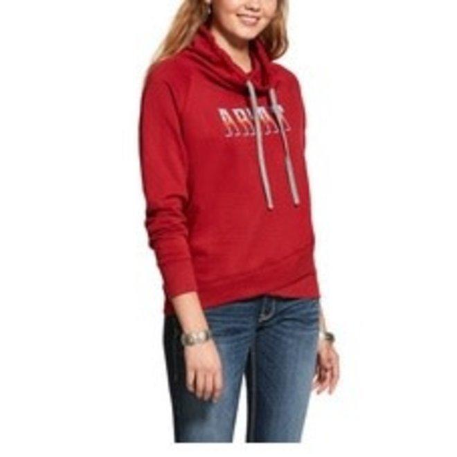 Ladies Red Logo Hoodie