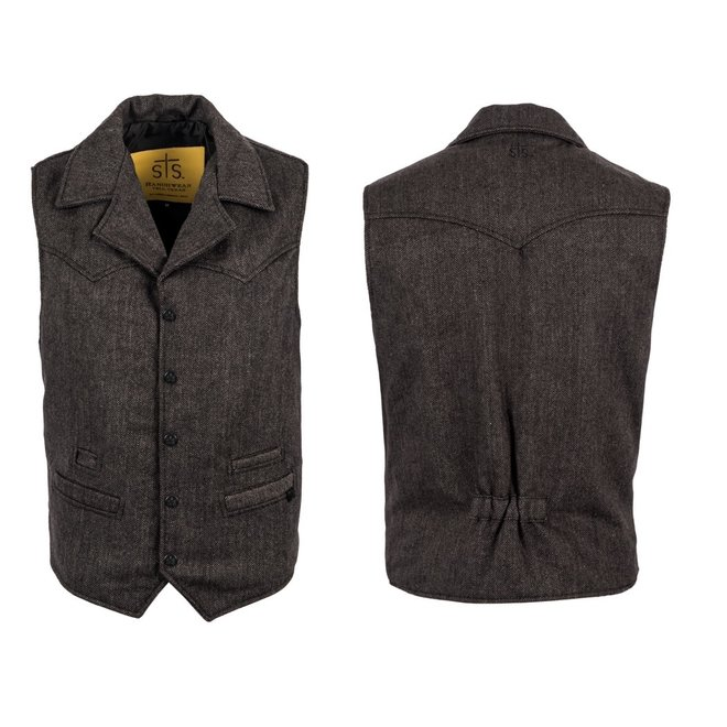 Mens Black Gambler Vest