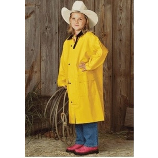 Kids Yellow Saddle Slicker