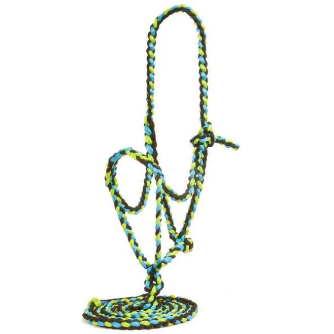 Nylon Flat Nose Braided Halter with 10' Lead