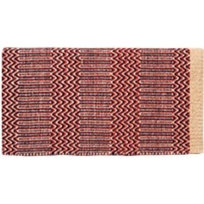 Double Weave Geometric Blanket