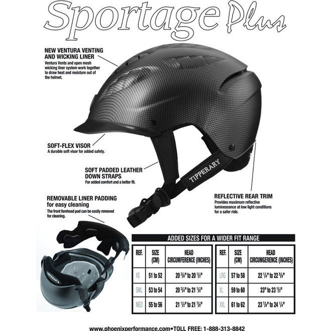 Sportage Grey Riding Helmet