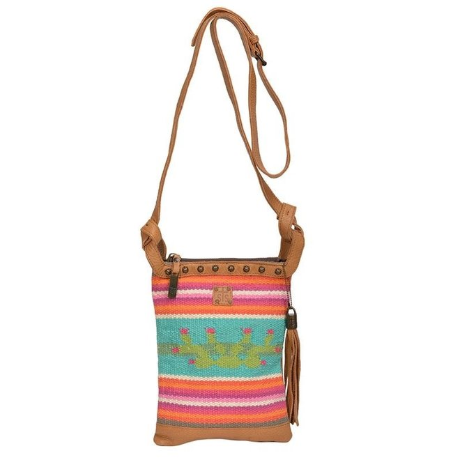Cactus Serape Crossbody Bag