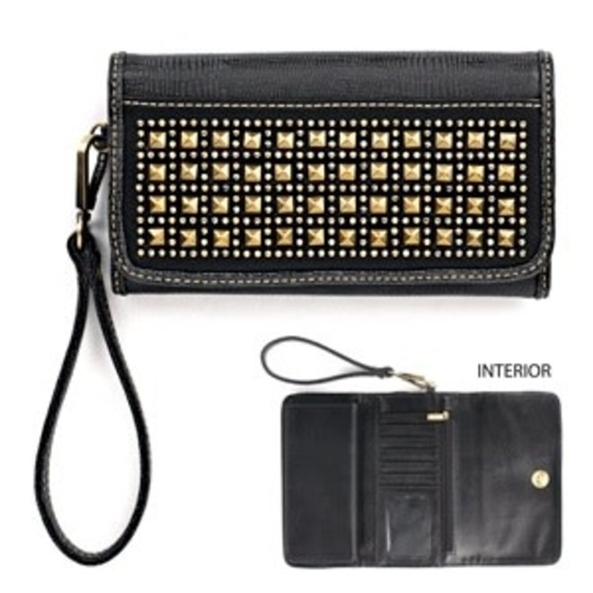 Black Avril Clutch Wallet