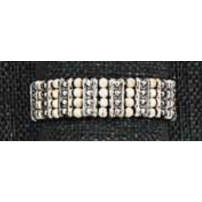 Antique Bead Stretch Bracelet