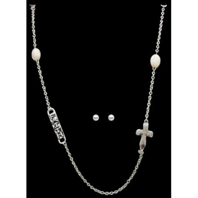Antique Silver Chain Necklace