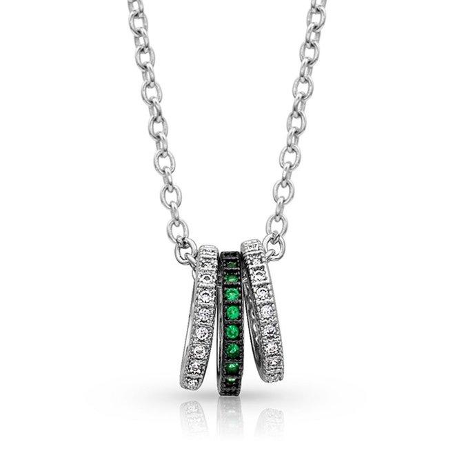 Mini Three Ring Necklace