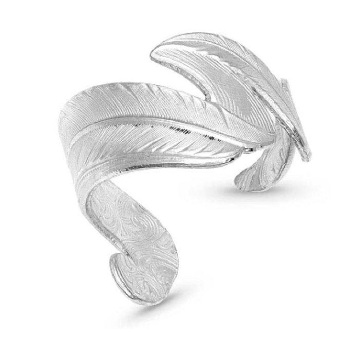 Free Spirit Adjustable Feather Ring