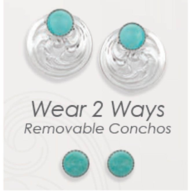 Two Way Concho Earrings
